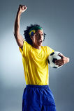 Soccer man challange Royalty Free Stock Photo