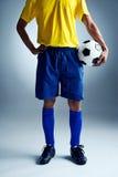 Soccer man challange Stock Photos