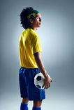 Soccer man challange Royalty Free Stock Image
