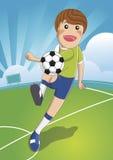 Soccer man Shooting. The Ball To Make A Goal. football. cartoon. Character vector illustration Stock Photography