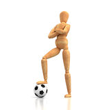 Soccer Mannequin Stock Photo