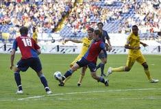 Soccer match Royalty Free Stock Photos