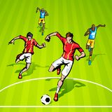 Soccer Match Stock Image