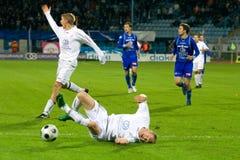 Soccer match Royalty Free Stock Photo
