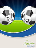 Soccer match advertisimg poster brochure Royalty Free Stock Images