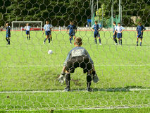 Soccer match. Goalkeeper Stock Photos