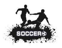 Soccer match in grunge style Royalty Free Stock Photos
