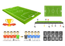 Soccer match infographic elements clip-art Stock Photo