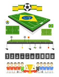 Soccer match infographic elements Royalty Free Stock Images