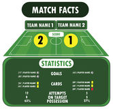 Soccer match infographic elements. Flat design. Royalty Free Stock Photography
