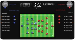 Soccer match infographic elements. Flat design. Stock Images