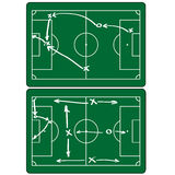 Soccer match infographic elements. Flat design. Royalty Free Stock Photos