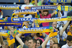 Soccer match metalist vs paok Stock Photos