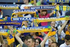 Soccer match metalist vs paok Stock Photos