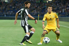 Soccer match metalist vs paok Stock Photo