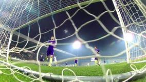 Soccer match. RIJEKA, CROATIA - February 12, 2016: Soccer players in action during a soccer match between Rijeka and Lokomotiva at HNK Rijeka Stadium