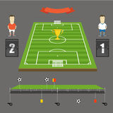 Soccer match statistics template Stock Photo