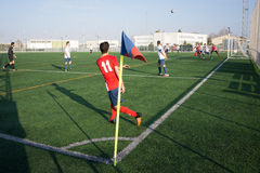 A Soccer Match Stock Image