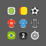 Soccer match vector icons Royalty Free Stock Images