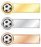 Soccer medals Stock Image