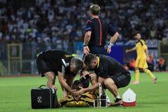 Soccer medicine help Stock Photos
