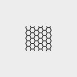 Soccer mesh icon in a flat design in black color. Vector illustration eps10 Royalty Free Stock Image
