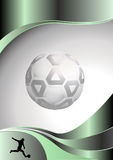 Soccer metal background Stock Image