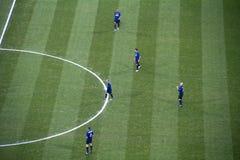 Soccer in Milan Stock Image
