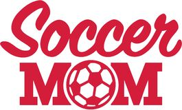 Soccer Mom with ball Royalty Free Stock Photo