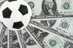 Soccer and money Royalty Free Stock Photo
