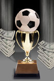 Soccer and Money. Stock Images