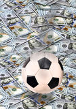 Soccer and Money. Royalty Free Stock Image