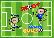 Soccer monkeys Stock Photos
