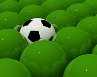 Only soccer in my mind Stock Photography