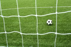Soccer net. The soccer view from net Stock Photography