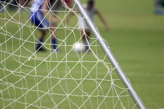 Soccer net stock photos