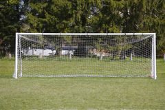 Soccer Net. Full View of Soccer Goal Royalty Free Stock Photos