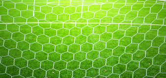 Soccer nets Stock Image