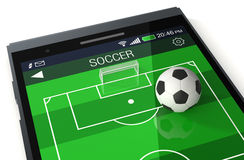 Soccer and new communication technology Stock Photos