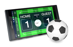 Soccer and new communication technology Stock Images