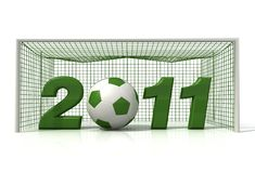 Soccer new year Stock Photography