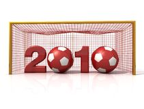Soccer new year stock illustration
