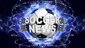 SOCCER NEWS BALL Computer Graphics Background Royalty Free Stock Image