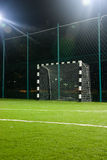 Soccer in night. Empty soccer field in the night Royalty Free Stock Image