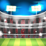 Soccer Night Stadium Sport Background Vector. Soccer Night Stadium Sport Background Stock Images