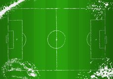 Soccer o. football field. grunge style, vector Stock Photo