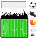 Soccer objects vector Stock Image