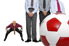 Soccer in the office Stock Image