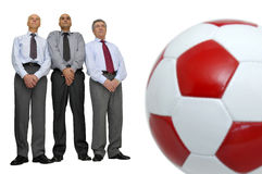 Soccer in the office Royalty Free Stock Photos