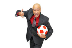Soccer in the office Royalty Free Stock Photography